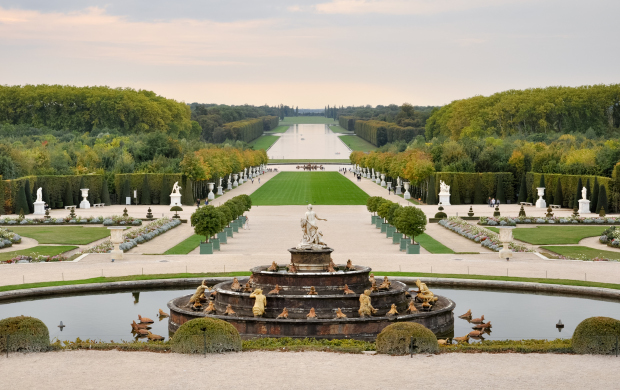 View from the water parterres, the Palace of Versailles