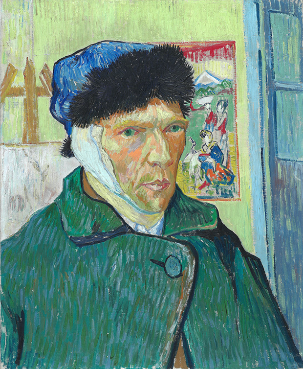 Self Portrait with Bandaged Ear (1889) - Vincent van Gogh. As reproduced in Body of Art