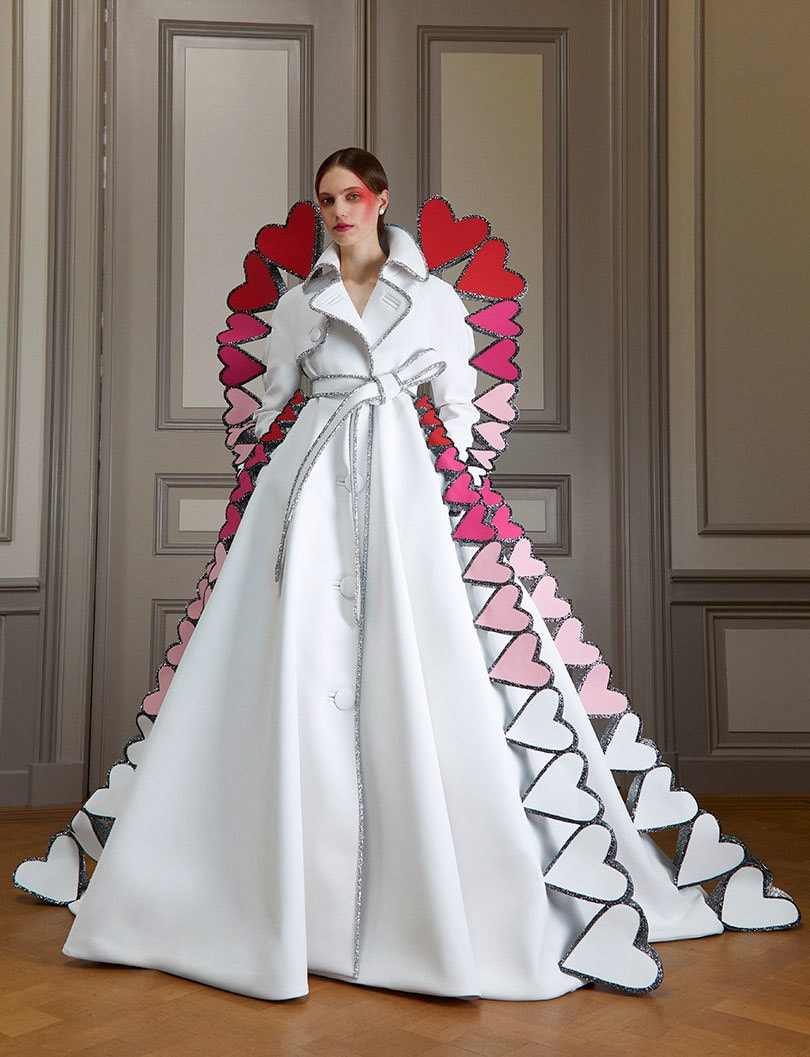 A heart-filled dress from Viktor&Rolf's Autumn/Winter 2020 collection