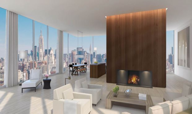 An interior rendering for 215 Chrystie