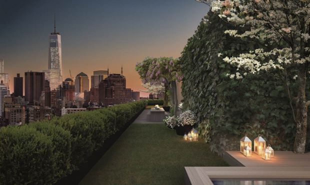 An rooftop rendering for 215 Chrystie