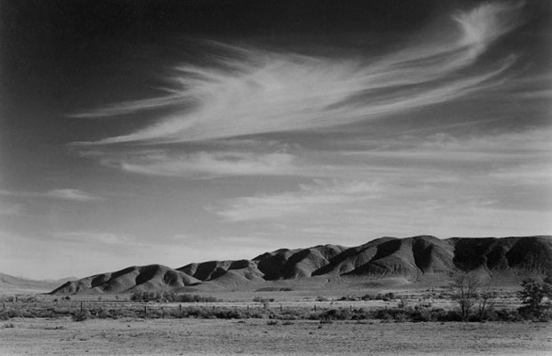 Ansel Adams, View South from Manzanar to Alabama Hills (1943)