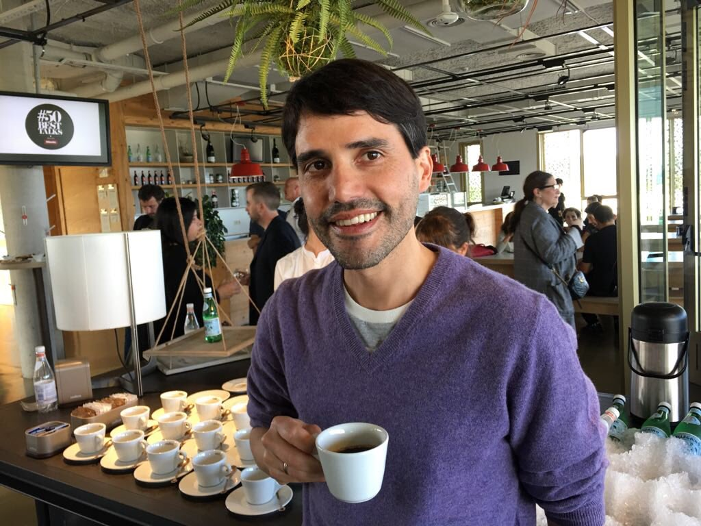 Virgilio Martinez in Bilbao. Image courtesy of the World's 50 Best Twitter account