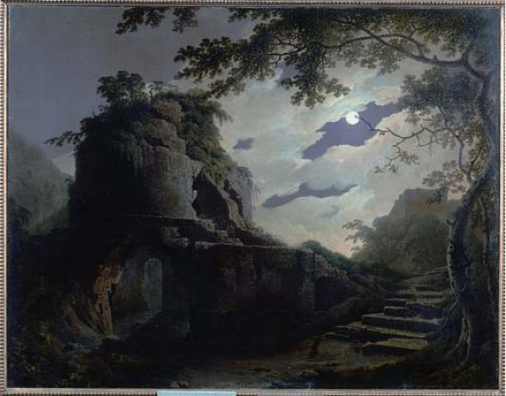 Virgil's Tomb in Moonlight (1779) by Joseph Wright