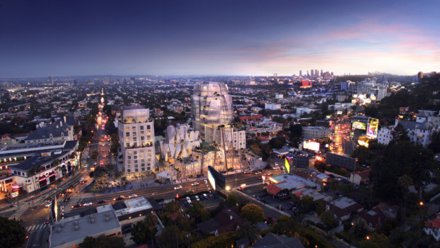 8150 Sunset Boulevard by Frank Gehry. Rendering by Visual House