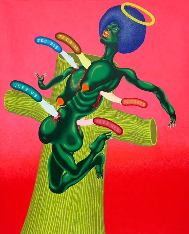 The Crucifixion of Angela Davis (1973) by Peter Saul
