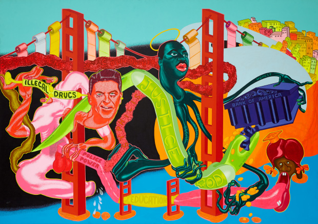 The Government of California (1969) by Peter Saul
