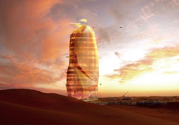 French architects plan a vertical city in the Sahara