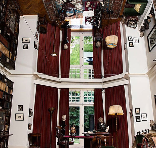 Self Reflection (2016) by Mark Wallinger. Self (2016) can be seen through the room's window. Image courtesy of the Freud Museum