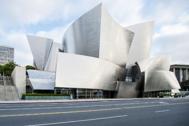 LA's Walt Disney Concert Hall, designed by Frank Gehry, hosted yesterday's Architectural Record's Innovation Conference. Picture by Steve Hill