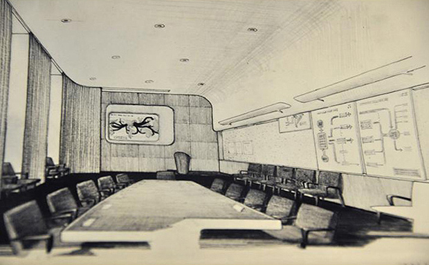 Eero Saarinen's War Room