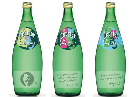 The new Warhol Perrier bottles