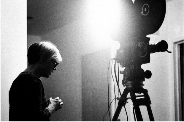 Andy Warhol with camera (1967)