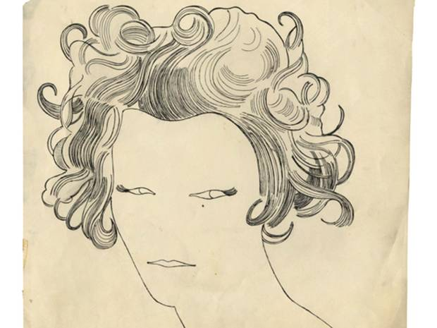 From Andy Warhol 1950s Drawings 'From Silver point to Silver Screen III'