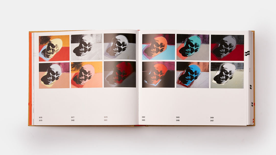 Warhol's Skulls series as featured in our Catalogue Raisonné