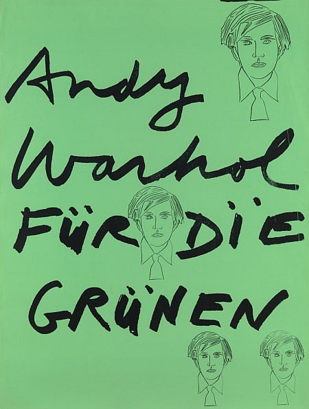 Warhol's 1978 Green Party poster