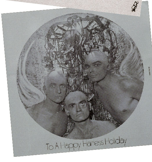 No wigs required for this Warhol Xmas card!