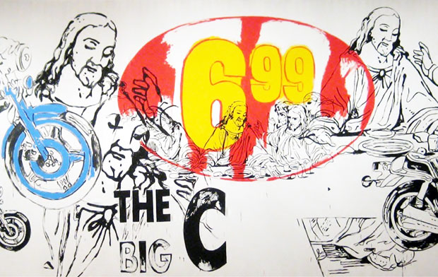 Detail from The Last Supper - The Big C (1986) by Andy Warhol