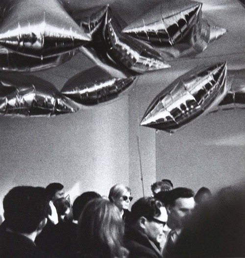 Warhol and his Silver Clouds as photographed by the young Stephen Shore