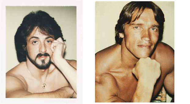 Sylvester Stallone (1980) and Arnold Schwarzenegger (1977) by Andy Warhol