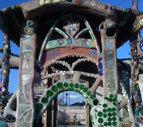 The Watts Towers entrance, by Simon Rodia