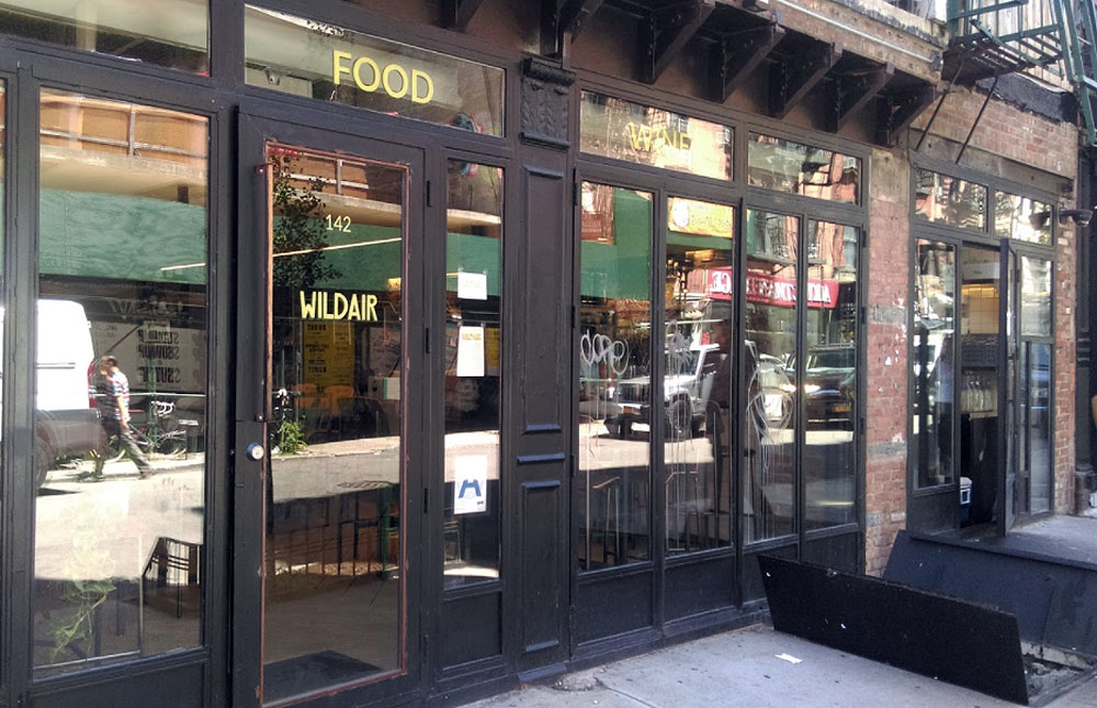 Wildair, New York - recommended in Where Chefs Eat