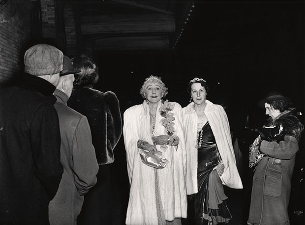 The Critic (1943) by Weegee as featured in The Photography Book