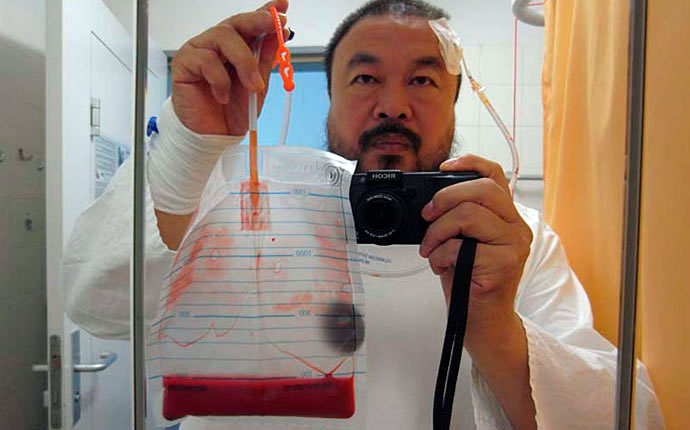 Ai Weiwei, self portrait from Never Sorry