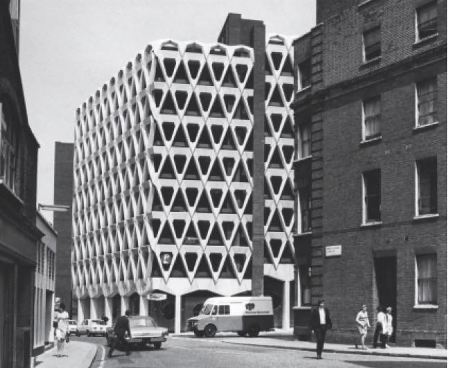 Welbeck Street Car Park, London, England, 1970, Michael Blampied & Partners