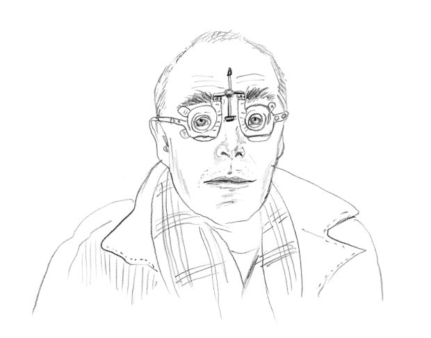 Richard Wentworth, as drawn by Phaidon's Creative Director Julia Hasting for AKADAMIE X