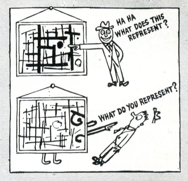 From How to Look at Modern Art in America (1946) by Ad Reinhardt