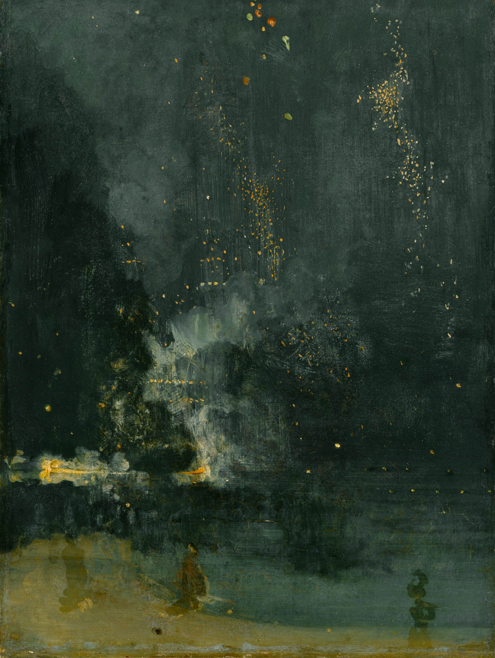 Nocturne in Black and Gold – The Falling Rocket (c. 1872-5) by James Whistler