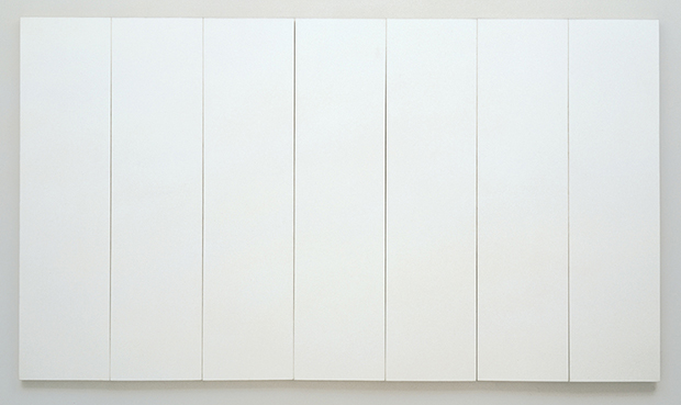 White Painting (seven panel) (1951) by Robert Rauschenberg