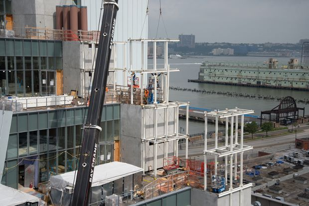The new Whitney takes shape. Photograph by Timothy Schenck