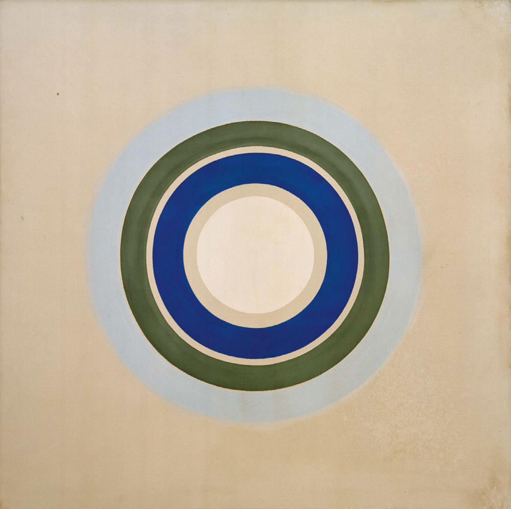 Winter Sun (1962) by Kenneth Noland. As reproduced in Art in Time