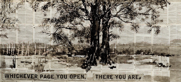 From William Kentridge's Second-hand Reading at the Marian Goodman gallery