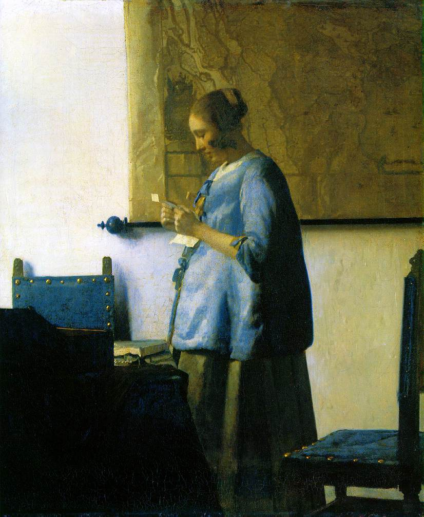 Vermeer's Woman in Blue Reading a Letter (c. 1663)