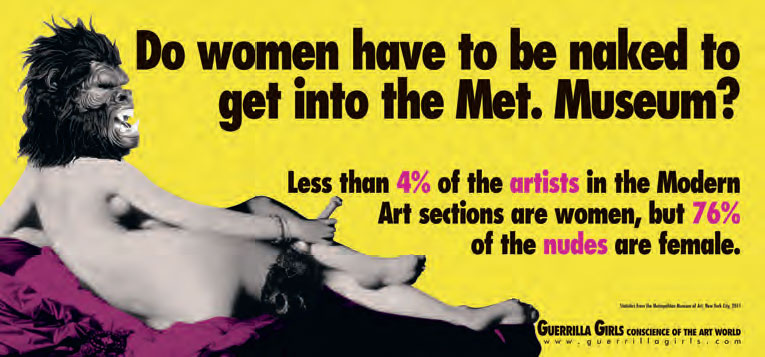 Do women have to be naked to get into the Met. Museum?, Update 2012. As reproduced in Co-Art