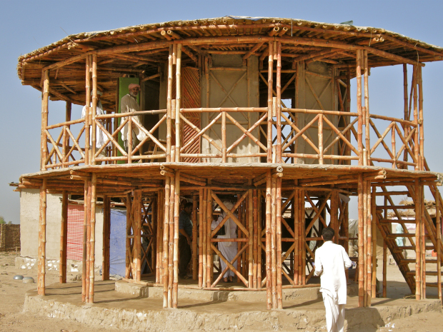 Women's Center, Darya Khan, Pakistan, designed by Yasmeen Lari. Image courtesy of RIBA