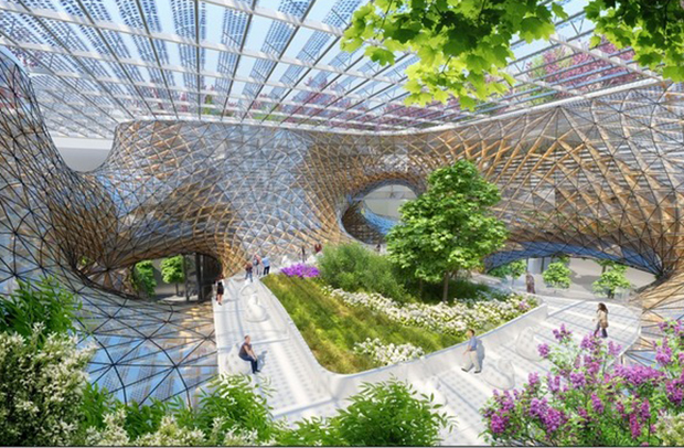 Renderings for Wooden Orchids by Vincent Callebaut Architectures