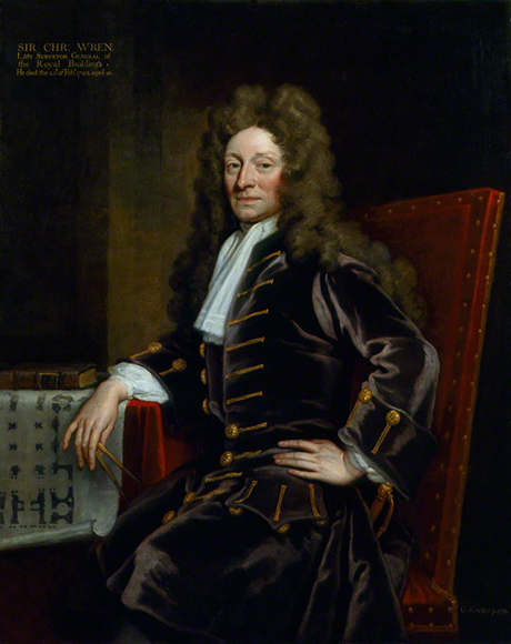 Sir Christopher Wren (1711) by Sir Godfrey Kneller
