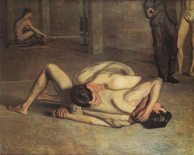 The Wrestlers (1899) by Thomas Eakins. As reproduced in Body of Art