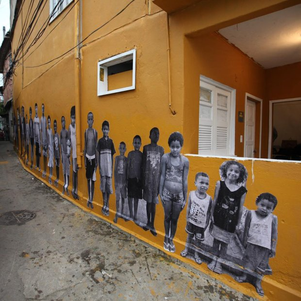 JR's Inside Out project on the side of Casa Amarela, Rio, 2011. Image courtesy of the Co Foundation's Instagram