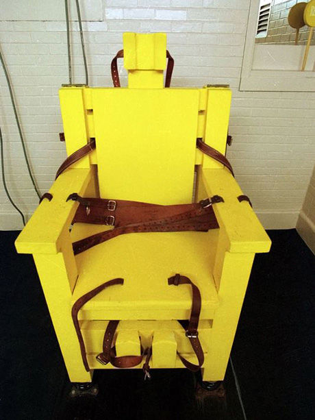Yellow Mama electric chair, created in 1927