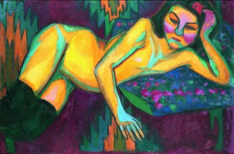 Yellow nude (1908) by Sonia Delaunay