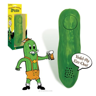 A yodelling pickle, the contemporary artist's favourite