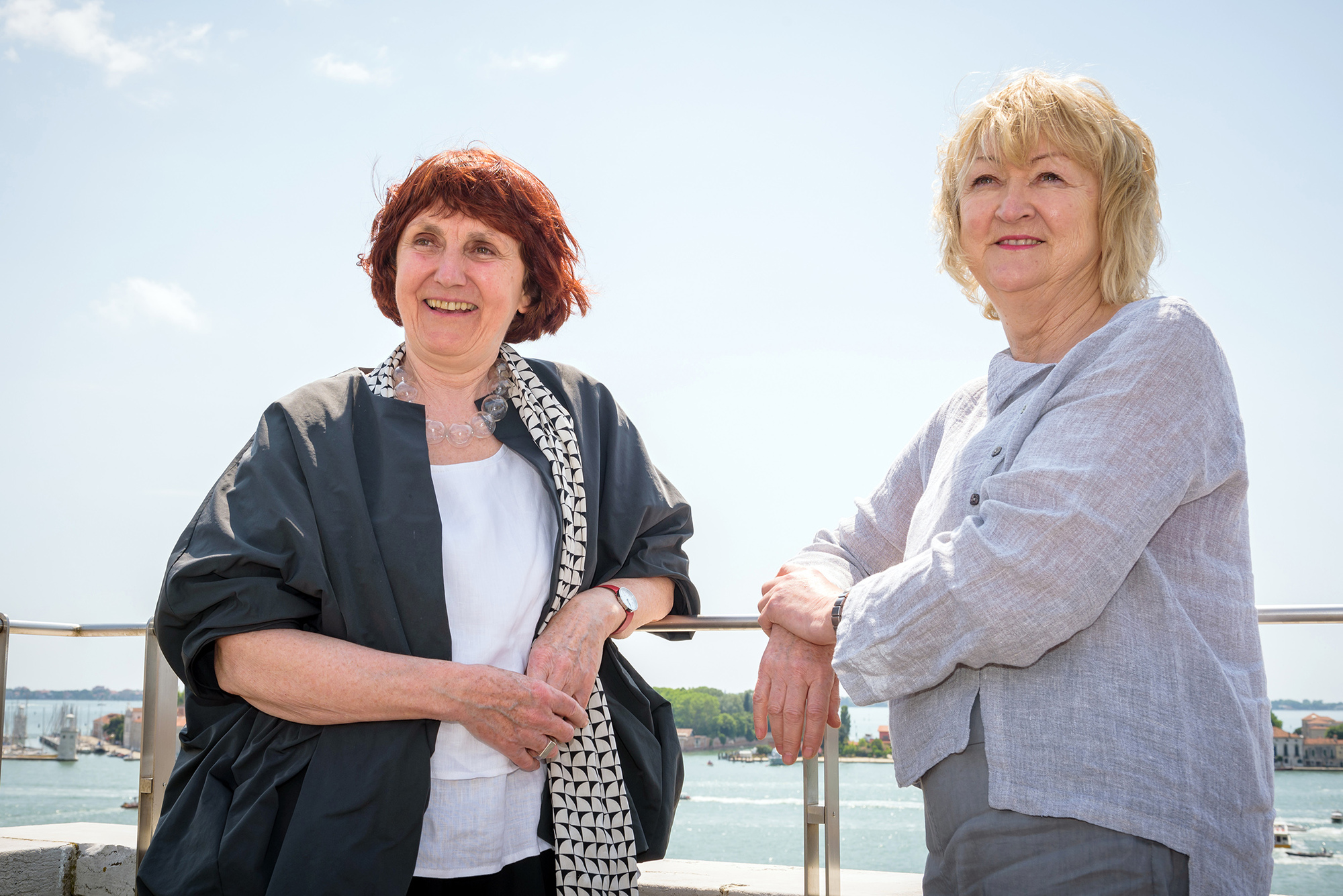 Shelley McNamara and Yvonne Farrell. Photograph by Andrea Avezzu, courtesy of the Venice Biennale