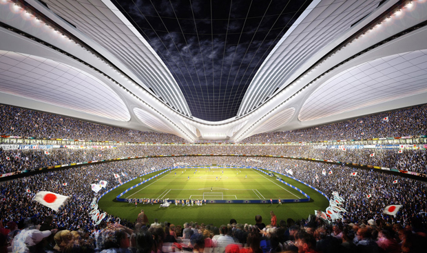 Winning stadium for Tokyo by Zaha Hadid Architects © ZHA