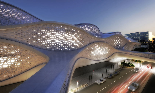 King Abdullah Financial District metro station, Riyadh, Saudi Arabia - Zaha Hadid