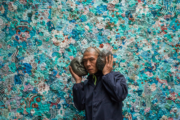 Zhang Huan photographed at Pace London